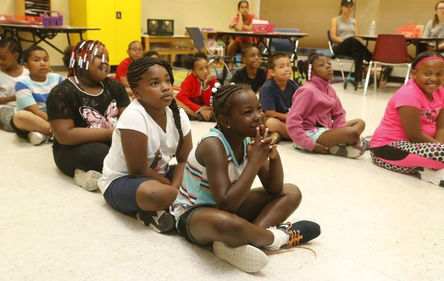 The Common Council is poised to implement active shooter training in city-affiliated recreational facilities to protect children like these in the Gloria J. Parks Community Center on Main Street. (John Hickey/News file photo)