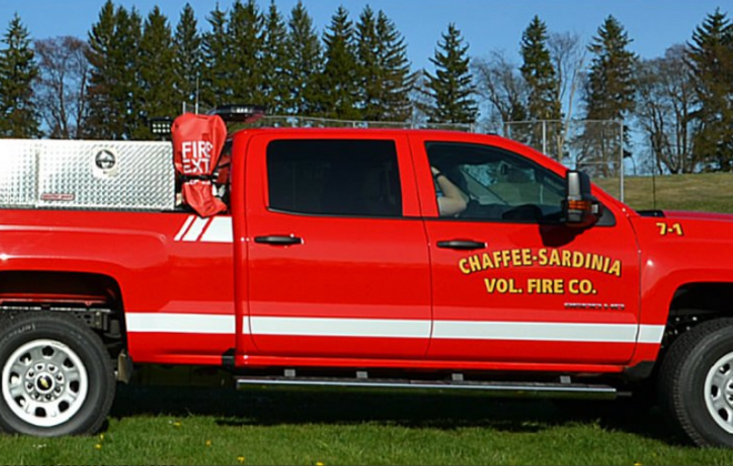 A Chaffee-Sardinia Volunteer Fire Company vehicle (provided by Chaffee-Sardinia Volunteer Fire Company)