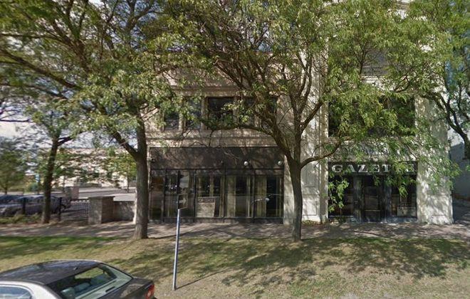 The former Niagara Gazette building at 310 Niagara St., Niagara Falls. (Google image)