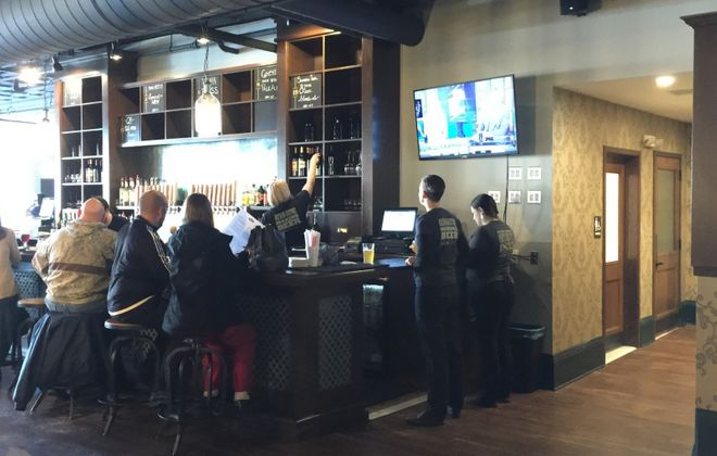 House-brewed beers have joined the offerings at Eli Fish Brewing Co. in Batavia.  (Andrew Galarneau/Buffalo News)