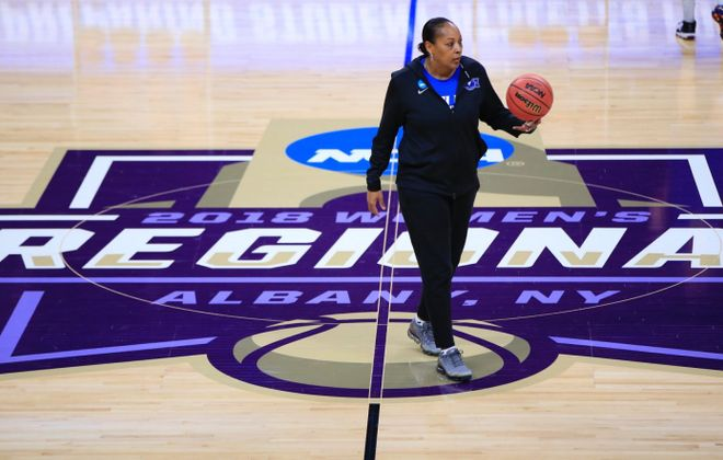 Interest is out there for UB women's basketball coach Felisha Legette-Jack. (Harry Scull Jr./Buffalo News)