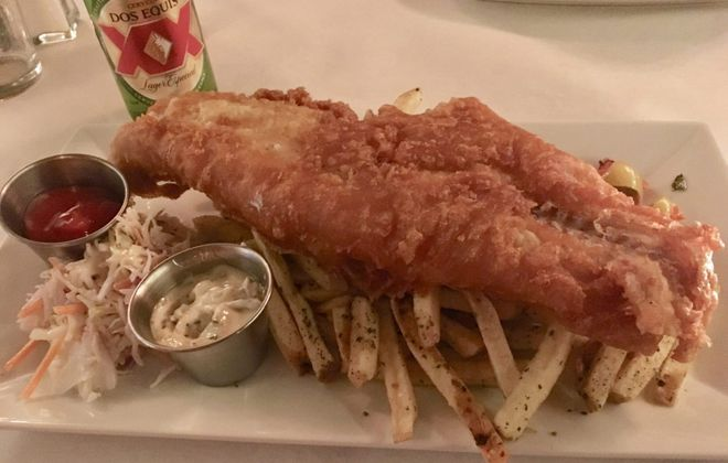 The jumbo fish fry is as big as advertised and then some. Served atop a pile of fresh cut fries it's a great rendition of a lenten Buffalo favorite. (Phil Wagner/Special to The News)