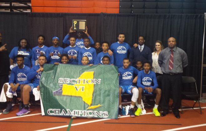 Health Sciences repeated as Section VI Class B-2 champions with a convincing win over JFK on Saturday.