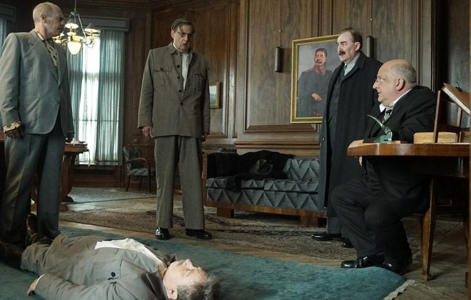 """The new film """"The Death of Stalin"""" takes a darkly comical approach to historical events. (Nicola Dove, IFC Film)"""