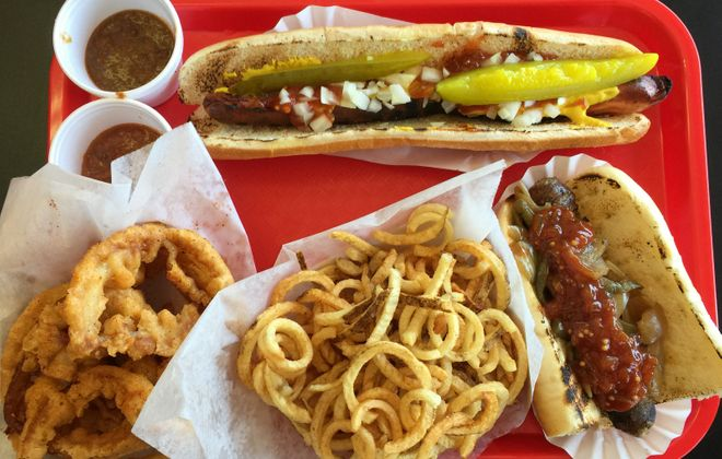 Hot dog stand classics done right at Louie's Foot Long Hot Dogs, 1893 Niagara St. (Andrew Galarneau/Buffalo News)