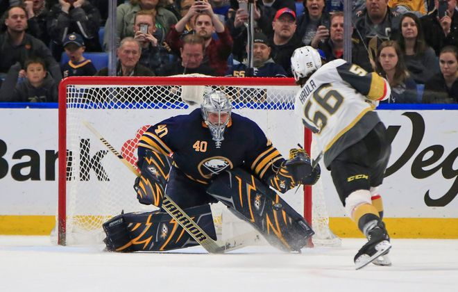 Robin Lehner's Sabres career is over. (Harry Scull Jr./News file photo)