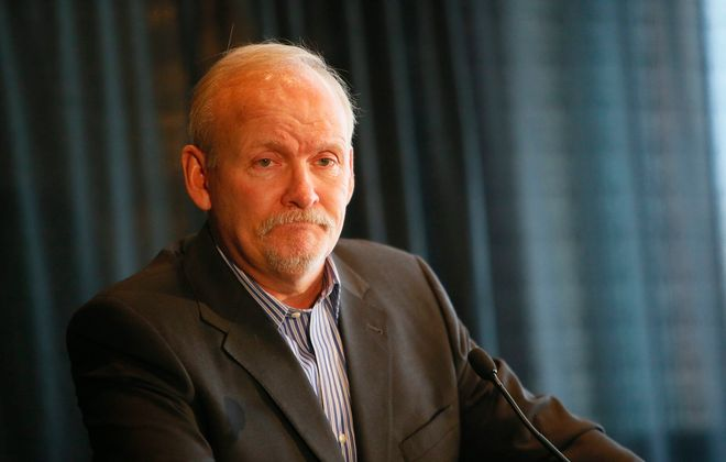 Lindy Ruff spoke to reporters on Feb. 22, 2013, two days after he was fired as coach of the Buffalo Sabres. (Derek Gee/News file photo)