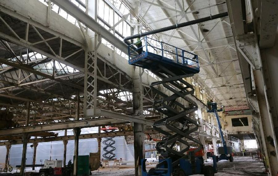 The Northland Workforce Training Center, shown under construction in January, should help ease the problem of too few trained workers, but more is needed. (News file photo)