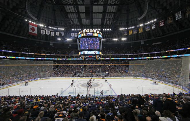 The Sabres have heard the many complaints about conditions in the aging KeyBank Center. (Harry Scull Jr./Buffalo News)