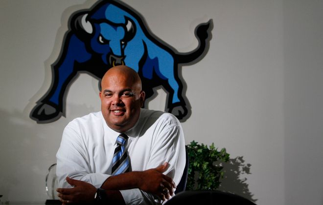 Former UB Athletic Director Warde Manuel heard a lot about John Beilein during his time with the Bulls. (Mark Mulliville/Buffalo News file photo)