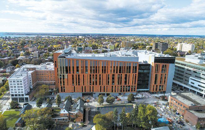 The new UB Medical School on the Buffalo Niagara Medical Campus. (Derek Gee/Buffalo News)