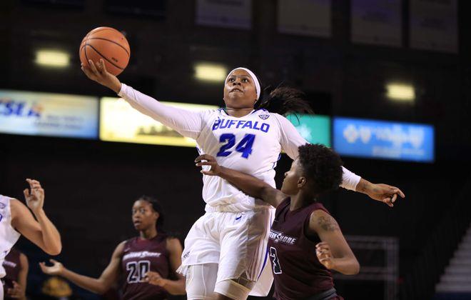 Cierra Dillard has been a driving force in the success of the UB women's basketball program. (Harry Scull Jr./ Buffalo News)