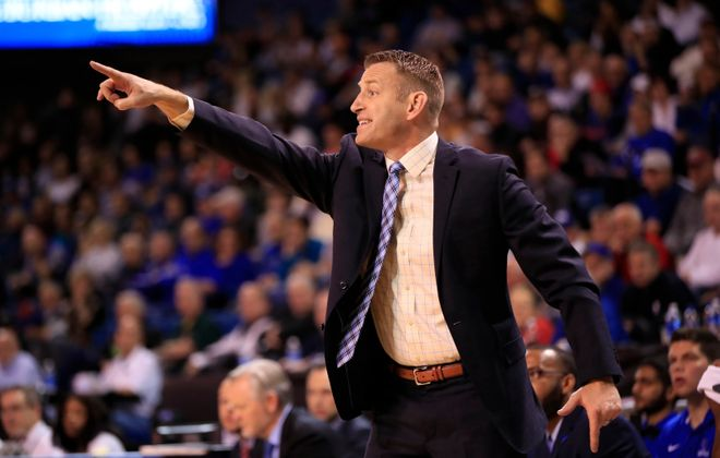 University at Buffalo coach Nate Oats has led the Bulls to a 3-0 start in Mid-American Conference play. (Harry Scull Jr./Buffalo News)