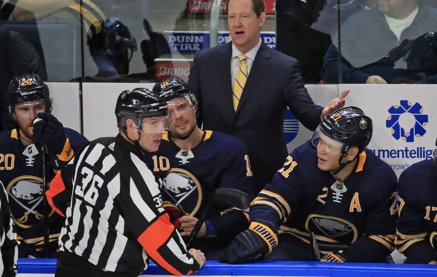Phil Housley didn't have enough impact behind the Buffalo bench to end the Sabres' playoff drought (Harry Scull  Jr./News file photo).