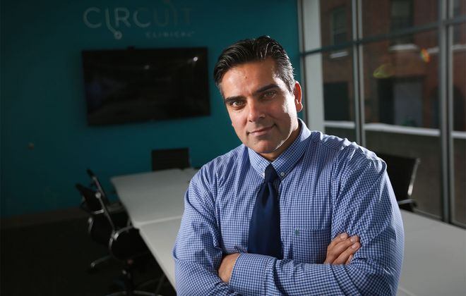 Dr. Irfan Khan, founder and CEO of Circuit Clinical. (Derek Gee/News file photo)