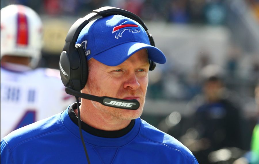 Bills coach Sean McDermott can rest his starters in Week 17 with nothing at stake. (James P. McCoy/News file photo)