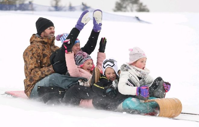 The toboggan hill at Chestnut Ridge Park in Orchard Park is one of the top winter attractions in Western New York. (Sharon Cantillon/Buffalo News)