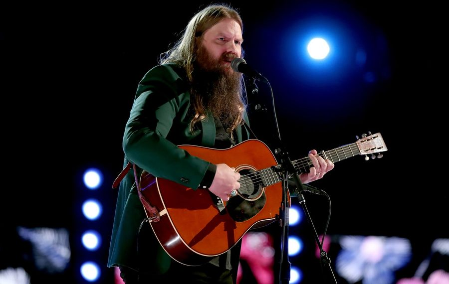 Country artist Chris Stapleton, pictured performing during the 60th annual Grammy Awards, will visit Darien Lake.  (Christopher Polk/Getty Images)