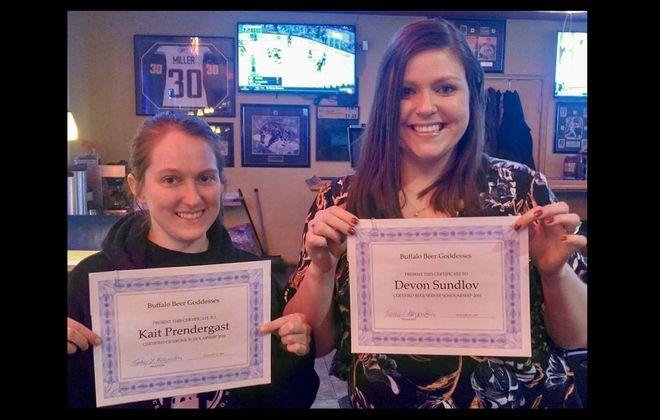 Kait Prendergast, left, and Devon Sundlov have both earned Cicerone Scholarships from BBG. (via Goddesses)