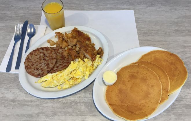 The number 5 special is a popular choice at Peg's Place Restaurant where breakfast is served all day. (Elizabeth Carey/Special to The News.)