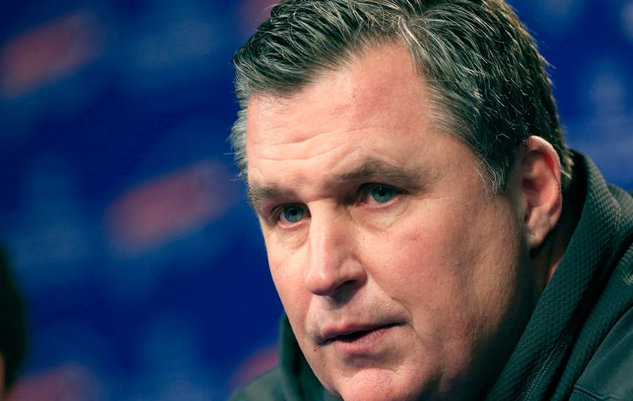 Former Bills coach Doug Marrone and his new team, the Jaguars, will face Buffalo on Sunday. (Harry Scull Jr./News file photo)