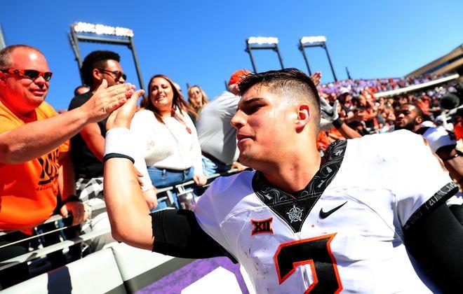 Mason Rudolph of Oklahoma State   (Tom Pennington/Getty Images)