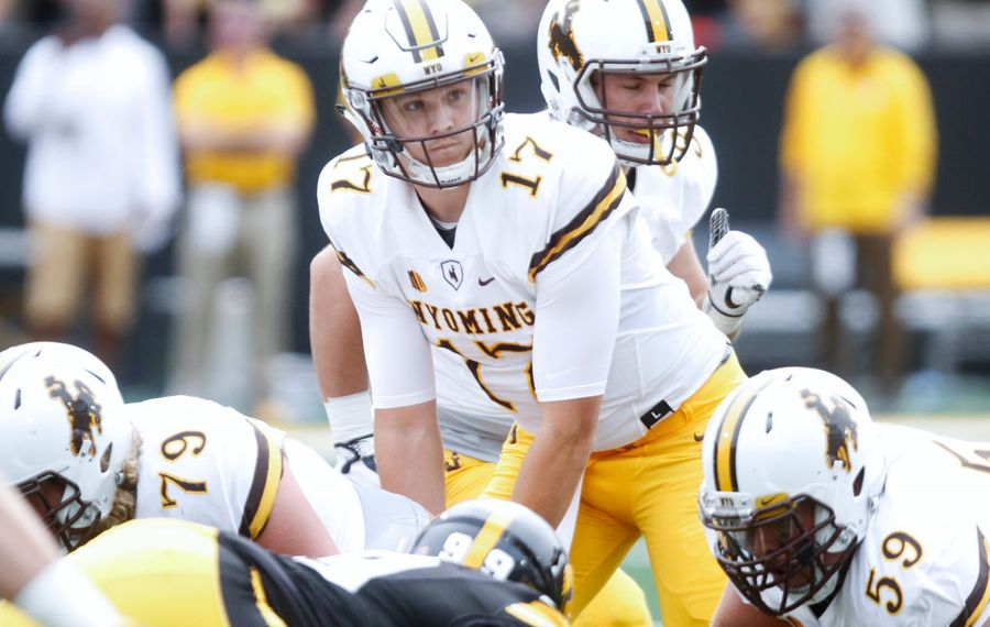 Wyoming's Josh Allen had his best day of the week in the third North team practice Thursday at the Senior Bowl.  (Matthew Holst/Getty Images)