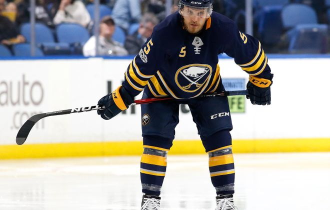 Matt Tennyson has played 14 games for Buffalo this season. (Getty Images)