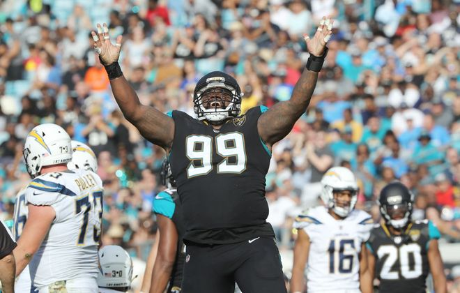 Defensive tackle Marcell Dareus will not play Sunday for the Jaguars against his old team. (Getty Images)