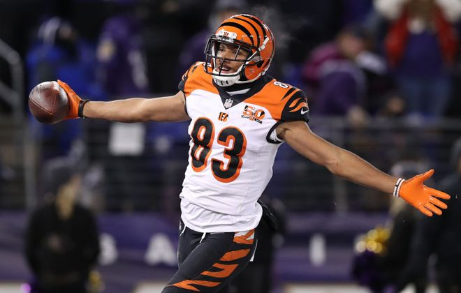 Bengals wide receiver Tyler Boyd caught the ball and made the moves that got him into the end zone -- and the Buffalo Bills into the playoffs. (Getty Images)