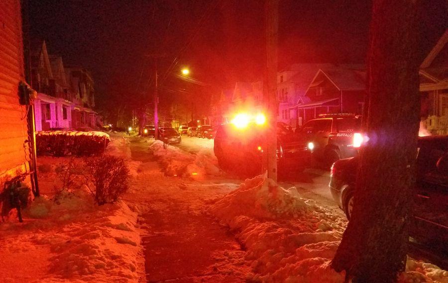 Buffalo Police are on the scene of a reported shooting. (Harold McNeil/Buffalo News)