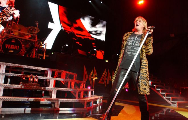 Def Leppard with lead singer  Joe Elliott  performing in 2006 at Darien Lake Performing Arts Center. (News file photo)