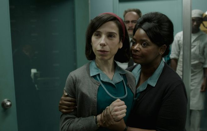 "Guillermo del Toro's Oscar-winning ""The Shape of Water"" stars Sally Hawkins, left, and Octavia Spencer."" (Fox Searchlight Pictures)"