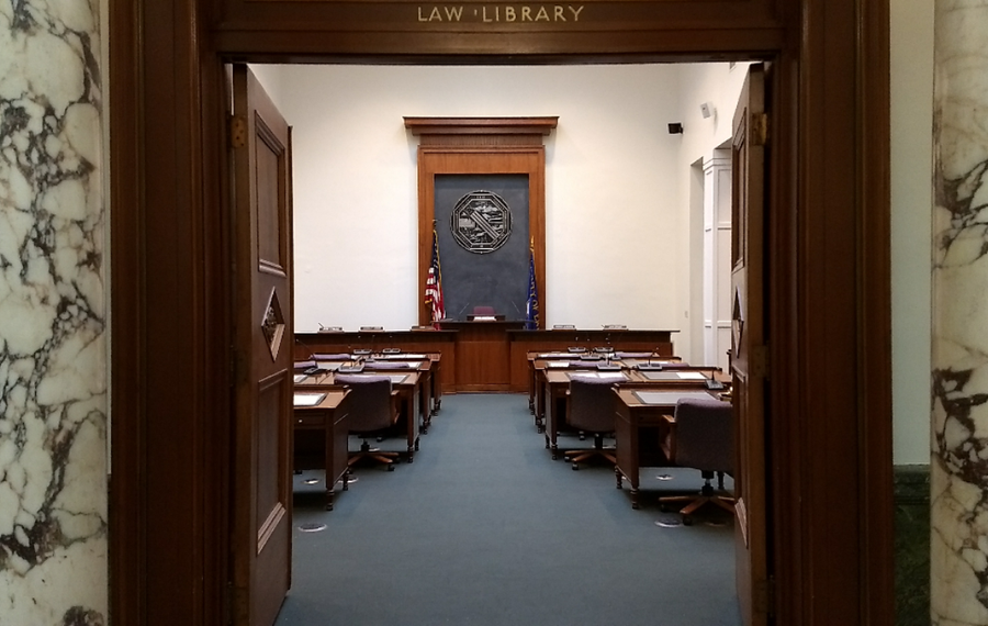 Erie County Legislature chambers. (Sandra Tan/Buffalo News)