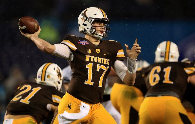 Wyoming quarterback Josh Allen. (Getty Images file photo)