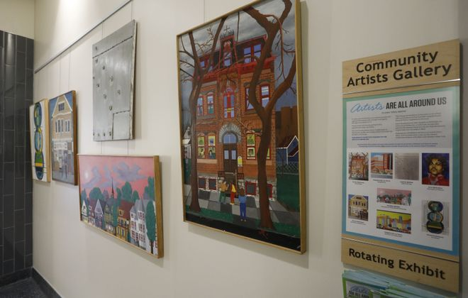 The Community Artists Gallery at Roswell Park, Tuesday, Jan. 16, 2018.  (Derek Gee/Buffalo News)