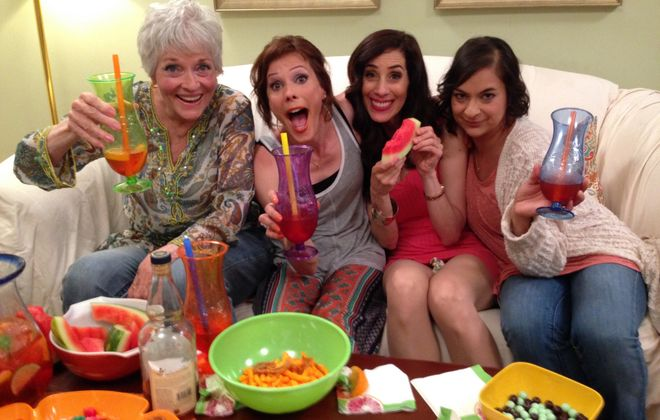 """The Buffalo-made film """"Diary of a Lunatic ... Trew Calling"""" stars, from left, Lee Meriwether, Tracey B. Wilson, Rosie De Sanctis and Jennifer Yadav."""