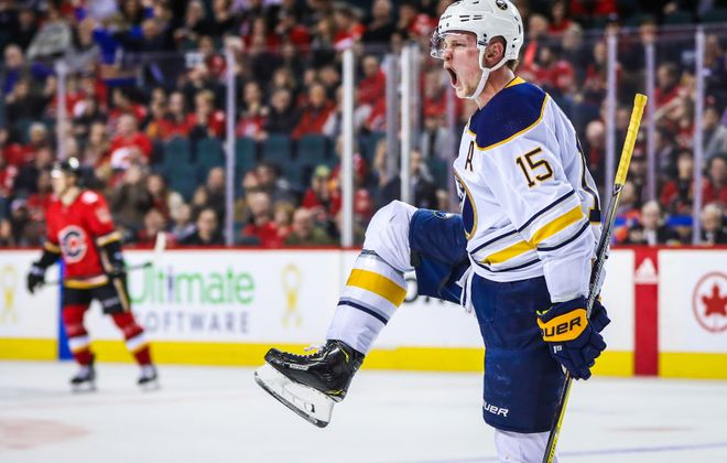 Jack Eichel's overtime winner made him want to shout Monday. (USA Today Sports)