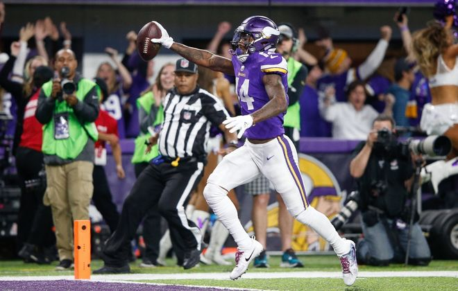 A tweet from Stefon Diggs stoked the Bills' interest in acquiring the Minnesota Vikings receiver in a trade, according to a report from Sports Illustrated. (Getty Images)