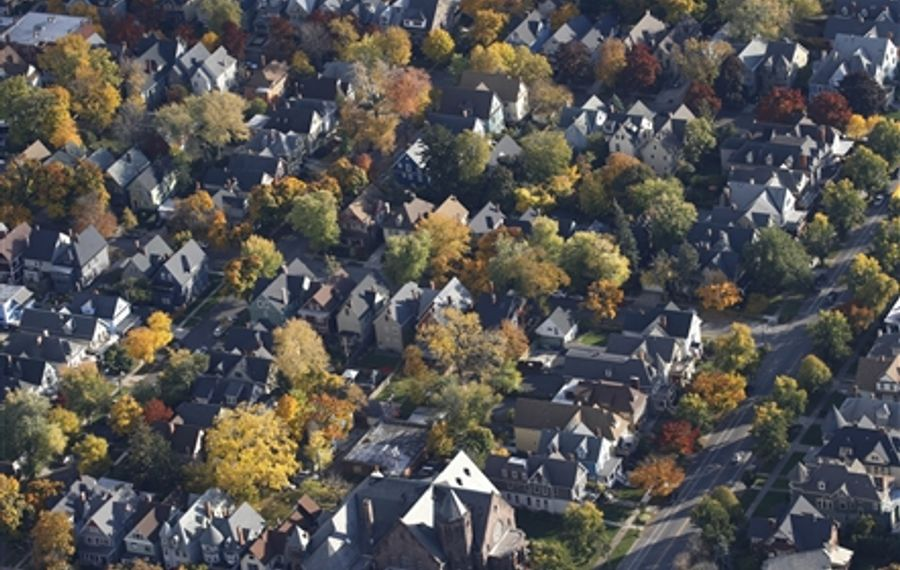 An aerial view of the Elmwood Village. (Buffalo News file photo)