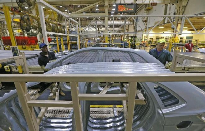 Hourly workers at Ford's Woodlawn stamping plant will benefit from profit-sharing checks. )News file photo)