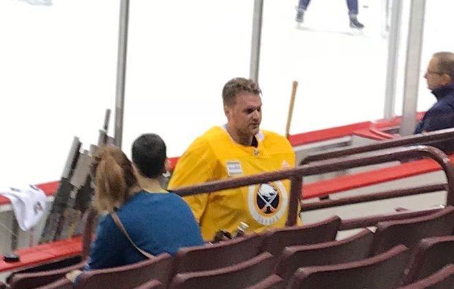 Robin Lehner will start in goal for the Sabres on Thursday in Vancouver. (John Vogl/Buffalo News)