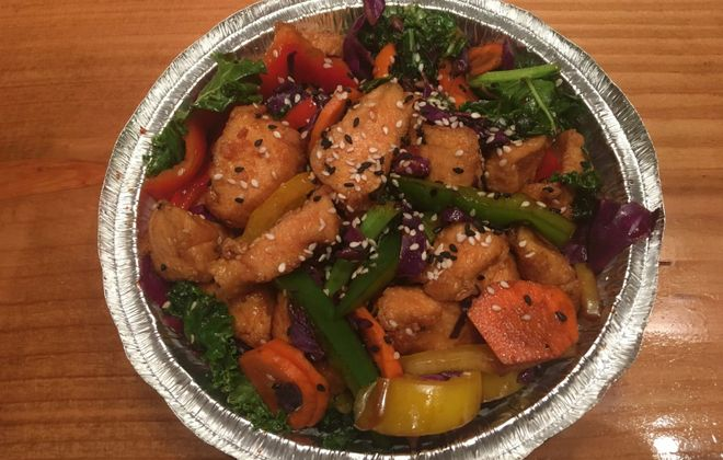 Sesame chicken from Asian fusion restaurant Good Fortunes, which is moving to Hertel Avenue. (Phil Wagner/Special to The News)