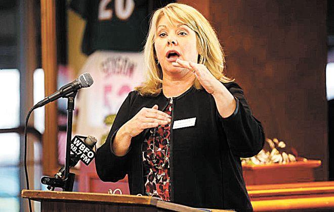 Dottie Gallagher-Cohen, the Buffalo Niagara Partnership's president,  outlined the business group's advocacy agenda. (Robert Kirkham/News file photo)