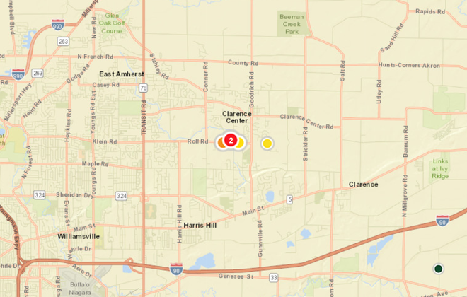 Power outages in Clarence, Cheektowaga, Elma due to high winds