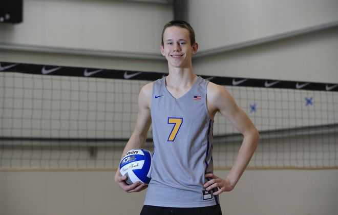Lockport senior Zach Schneider was named to Volleyballmag.com's Fab 50 list as one of the top players in the United States. (Harry Scull Jr./Buffalo News)