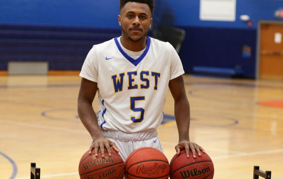 West Seneca West boys basketball's Juston Johnson awaits a court ruling regarding his playing status this season. (James P. McCoy / Buffalo News)
