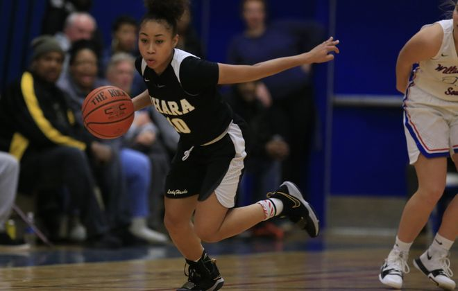 Nickelle O'Neil and Cardinal O'Hara maintained the No. 1 spot in the girls basketball large schools poll following its win at No. 2 Williamsville South Saturday. (Harry Scull Jr./Buffalo News)