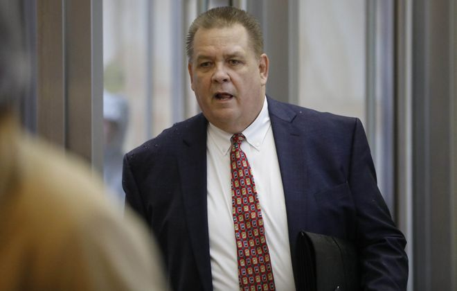 Timothy Enix, former Kingsmen regional president, arrives at U.S. District Court in Buffalo. (Derek Gee/Buffalo News)