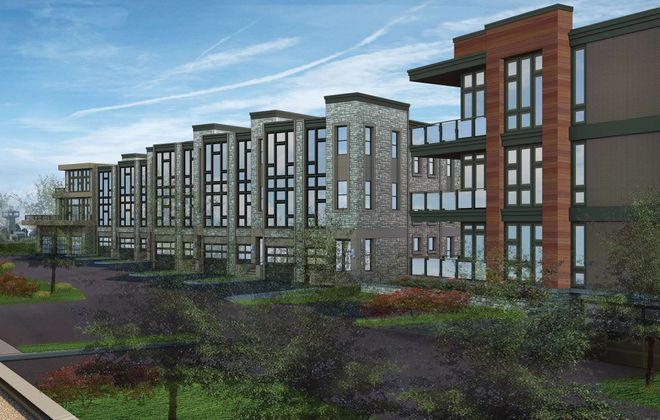 A rendering of Ciminelli Real Estate Corp.'s proposed West End condo building in Waterfront Village.